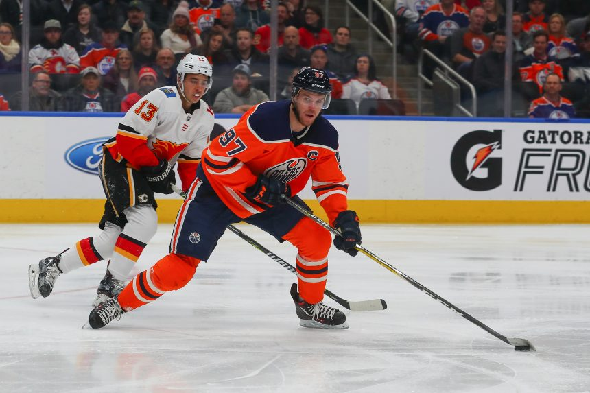 McDavid and Gaudreau Duel in Battle of Alberta
