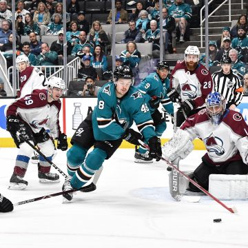 Styles Clash between the Avalanche and Sharks in Round 2