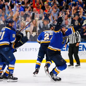 The Blues Hogged the Puck All the Way to the Conference Finals